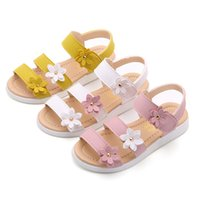 Wholesale casual sandals yellow color resale online - 3 color summer new sandals baby girl yellow white pink beach casual kid baby girl shoes