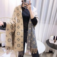 lenço branco sexy venda por atacado-Cobertor de inverno Cachecol Mulheres Pashmina Cashmere Cachecol Impressão frente e verso Borlas Lenços Quentes Xaile Longo Wraps 180 * 70 cm