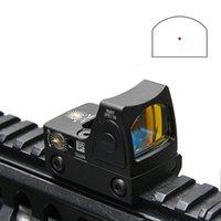 punto de vista trijicon al por mayor-2019 Nuevo Trijicon RMR estilo ajustable Red Dot Sight Scope con cubierta de goma protectora para la caza