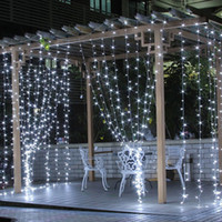 Wholesale led string tree resale online - Led String Lights M LEDs Window Curtain String Light Wedding Party Home Garden Bedroom Outdoor Indoor Wall Decorations