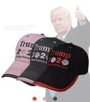 Wholesale black captain cap for sale - Group buy Trump Baseball Cap Keeping America Great Again USA Flag Snapback Lip Embroidery Hat Colors Party Hats OOA8003N