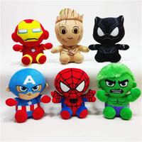 oyuncak batman çizgi filmleri toptan satış-peluş oyuncak Iron Man Kaptan Amerika Batman peluş oyuncak bebek karikatür bebek çocuk oyuncak süsler Çocuk oyuncakları Yenilmezler