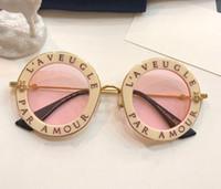 weißer runder rahmen großhandel-Luxus 0113 Designer Sonnenbrillen Für Frauen Mode Runde Sommer Stil Weiß Rosa Rahmen Top Qualität UV Schutz Objektiv Kommen Mit Fall