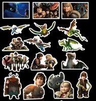 Wholesale train stickers online - 42pcs set Graffiti Sticker Personality How to Train Your Dragon Luggage DIY stickers cartoon PVC Wall bag kids toys AAA1920