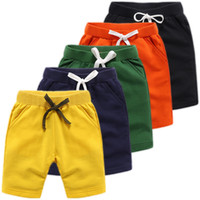 Wholesale sports clothes for girls for sale - Group buy shorts Pants Summer Sports solid color Boutique Baby Kids Clothing For girls and boys clothes size