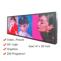 Wholesale electronic signing for sale - Group buy Ultra Bright Nits Outdoor Full Color LED USB RGB Color quot x14 quot P5 For Store Display Scrolling Messages Electronic Sign Free Design Ads