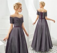 Wholesale corset dresses resale online - Vintaege Grape Crystal Beaded Prom Dresses Real Pictures Corset Back Evening Gown Luxury Beaded Formal Party Pageant Dresses CPS1301