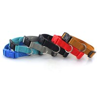 naylon zincir köpek yaka toptan satış-Pet Yaka Düz Renk Temel Stil Köpek Zinciri Yapay Naylon Kırmızı Siyah Mavi Köpekler Göğüs Geri Askı 1 9jw L1
