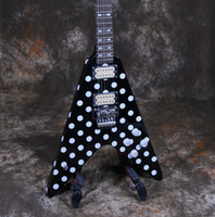 Wholesale v guitars resale online - Randy Rhoads Starshine XY RBF Electric Guitar FR Bridge White Dot Speicel V Shape Good Sound