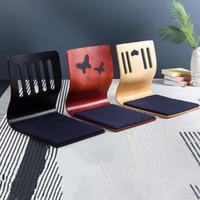 piso japonés al por mayor-Silla baja de estar Zaisu Diseño asiática muebles para la sala de estilo japonés Tatami Legless meditación EEA591 amortiguador de la silla