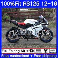 Wholesale 125 kit online - Injection OEM For Aprilia RS RS125RR RS4 stock white HM RSV125 RS RS125 Fairing kit