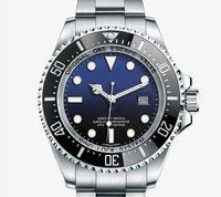 мужские синие керамические часы оптовых-Новый роскошный SEA-DWELLER D-blue 44 мм Мужские часы с автоматическим механизмом Механическая керамическая рамка Сапфир Мужчины DEEP Часы Наручные часы btime