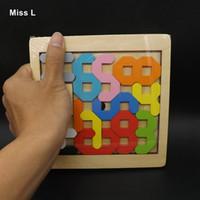 geometrische figur großhandel-Abbildung Anzahl Mathematisches Spiel Kinder Spielzeug Holz Puzzle Geometrische Geschenk Intelligenz Mind Game Training Prop