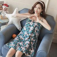 ingrosso pigiami sexy coreani-YF465 nuova versione coreana del pigiama allentato camicia da notte di grandi dimensioni sexy servizio di casa imbracatura