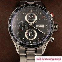 reloj de pulsera calibre 16 al por mayor-Diseñador 2019 Nuevos Relojes de pulsera para hombre Tamaño 44mm Cal 1887 Relojes automáticos deslizantes suaves Cara negra Caja de acero inoxidable Reloj calibre 16