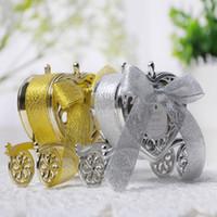 parti bebek arabası toptan satış-Aşk Arabası Düğün Kutusu Parti Iyilik Hediye Şeker Çikolata Kutusu Düğün için Altın ve Gümüş Kutu Bebek Doğum Günü Partisi