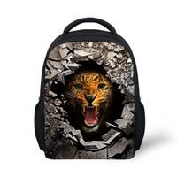 mochila de niña de 12 pulgadas al por mayor-mochilas grises con estampado de animales de 12 pulgadas para niños y niñas mochilas escolares infantiles para mochilas escolares de jardín de infantes, mochila para niños