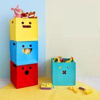 caixa de brinquedos tradicional venda por atacado-Novo cubo dobrável Sentiu caixa de armazenamento de Tecido Escritórios diversos Organizadores de cesta de armazenamento Organizador de roupas kid toy organizador