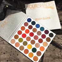 36 palette achat en gros de-Ombre à paupières beauté professionnel émaillé 36 couleurs Ombre à paupières Pigment Matte VOS SDHADES Maquillage Palette Cosmétiques de haute qualité