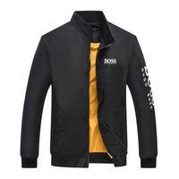 nueva chaqueta de los hombres coreanos al por mayor-2018 Nuevo patrón de impresión Béisbol Versión coreana Chaqueta Hombre otoño e invierno Juventud delgada Escudo suelto