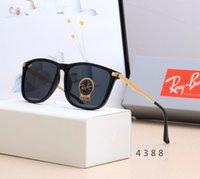 lente de aviador al por mayor-2019 Vintage piloto RayProhibiciones Gafas de sol RB4388 gafas de diseño de moda 55mm mujeres de los hombres de color UV400 película polarizada TAC lente aviador Sun