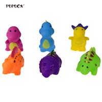 Wholesale toy bathtub resale online - 6 Baby Bath Time Fun Dinosaur Rubber Bathtub Toys