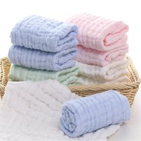 5PCS Baby Handkerchief Sweat Towels Newborn Gauze Muslin Square Cotton Bath UK