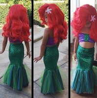 Wholesale baby girl little mermaid costume for sale - Group buy sexy costumes for baby girls princess ariel dress The little Mermaid Ariel princess Cosplay costume mermaid dress