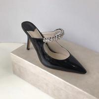 ingrosso cinghie di caviglia tacchi di vernice nera-Sandali con tacco alto Sandali con tacco alto Sandalo con tacco alto Sandali con tacco alto Sandalo con punta di diamante