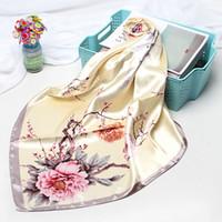 lenços chineses mulheres venda por atacado-Designer Scarf Flor chinesa Patterns Moda embrulhar presentes das Xaile Mulheres duplas