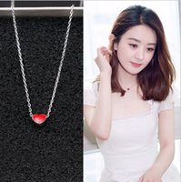 Wholesale korean silver heart necklace for sale - Group buy 2019 new Korean version Heart shaped necklace S925 silver Clavicular chain
