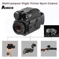 tag nacht videokamera großhandel-Askco Mini Multifunktions IR Digital Infrarot Monokulare Tag Nachtsichtteleskop Nachtsichtgerät Für Kamera Video Jagd