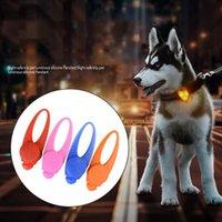 etiquetas de seguridad llevadas del collar de perro al por mayor-LED Light Dog Colgante Pet Charm Dog Flash Tag Night Safety Anti-lost Light Colgante Pet Supplies