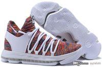 pendant shoes christmas venda por atacado-2018 Top Quality KD 10 Finais MVP Natal sapatos venda quente Kevin Durant Kevin Durant loja de sapatos US7-US12 top venda