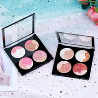 luzes de gelado venda por atacado-Sombra de olho Blush Alta Luz Maquiagem Sorvete Sombra de Paleta Arte Romântica Luxo Beleza Fix Face Pallete Integrado