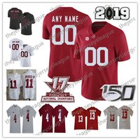 camiseta de fútbol personalizada al por mayor-2019 Alabama Crimson Tide 150º requisitos particulares cualquier Número Nombre cosido Blanco Rojo # 2 Patrick Surtain II 88 Mayor de Tennison NCAA Football Jersey