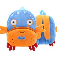 Wholesale customizable bags resale online - Early Education CHILDREN S Customizable LOGO2 Year Old Children s Backpack Crab Backpack Plush Burden Relieving Bag