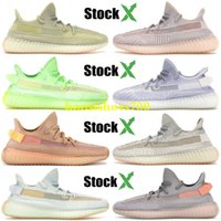 Wholesale light cream resale online - 2019 Black Kanye West With Box New Antlia Static Reflective Clay Running Shoes Classic Cream White Men Women Designer Sneakers