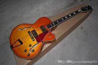 Wholesale guitar semi hollow sunburst resale online - custom jazz Semi Hollow guitar custom L5 in CS cherry burst sunburst Electric Guitar in stock