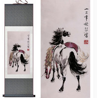 Wholesale free horses painting for sale - Group buy Top Quality Chinese Traditional Chinese Painting Art Painting Horse Home Office Decoration Picture