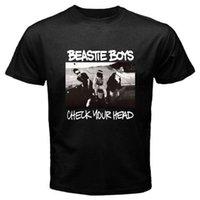 erkek gömlek kontrolleri toptan satış-Beastie Boys Başınızı Kontrol Rap Hip Hop Müzik Siyah Gömlek Abd Boyutu S-3XL Af1