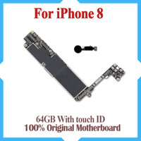 100% Unlocked Logic Board For iPhone 8 Original Motherboard For iPhone 8 With Touch ID Clean iCould ID With Full Chips