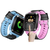 relógio flash venda por atacado-Esporte bonito q528 crianças lbs rastreador relógio crianças smart watch com flash light touchscreen sos chamada localizador de localização para o miúdo criança gps q50
