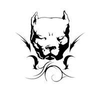 aufkleber stiere großhandel-14 * 14,4 CM Pit Bull Hund Auto Aufkleber Persönlichkeit Vinyl Aufkleber Auto Styling Stoßstange Dekoration Schwarz / Silber S1-0718