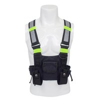 тактический пакет грудной клетки оптовых-Chest Rig Kanye West Waist Pack Chest Bags Fashion oxford adjustable Black Vest Hip Hop Streetwear Functional Tactical Harness