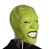 Wholesale jim carrey for sale - Group buy Mascarello Scary Mask Jim Carrey Rave Purge Stanley Ipkiss Costume Horror Cosplay Realistic Latex Dress Party Ball