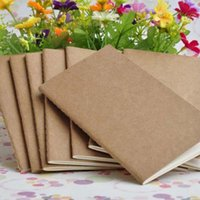 Wholesale kraft paper cover notebook for sale - Group buy paper notebook blank notepad book vintage soft copybook daily memos Kraft cover journal notebooks notepad LX7349