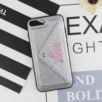 Wholesale cute 3d note case for sale - Luxury PINK Glitter Leather Case For iPhone Plus X XR XS Max Fashion Cute Pink D Embroidery Cover For Samsung S9 S10 Plus Note