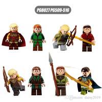 führer geschenke großhandel-Herr der Ringe Haldir Terill Prinz Captain Guard Düsterwald-Anführer Elrond Kids Gift Toys PG8027