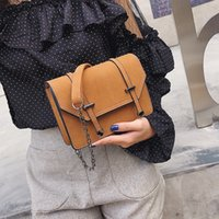 Wholesale pink sand bag for sale - Group buy Autumn and Winter New Sanded Stereo Square Prepuce Belt Decorative Magnetic Button Single Shoulder Oblique Crossing Women s Bag